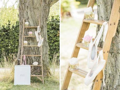 Outdoor ladder wedding