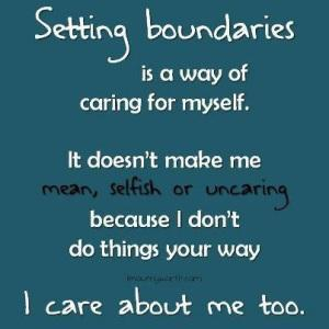 setting clear boundaries