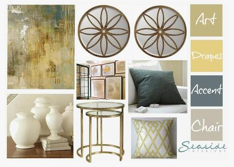 Blue and Gold Living Room Makeover!