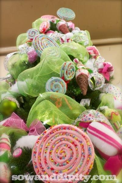 Candyland Christmas tree ornaments