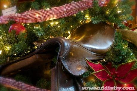 Saddle in Christmas tree