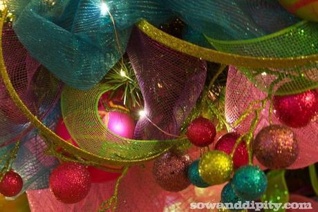 Sinamay wreath