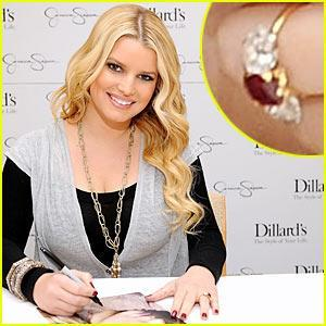 Jessica SImpson ruby engagement ring