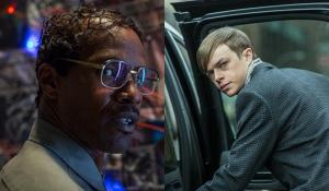 Jamie Foxx as Electro and Dane DeHaan as Harry Osborn in The Amazing Spider-Man 2