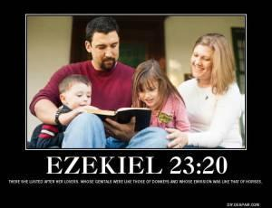 Reading the Bible together as a family is a good way for a Biblically oriented family to connect with each other. In addition, it is a good antidote to the constant swarm of filth, porn and evil flooding out from our atheistic liberal society.