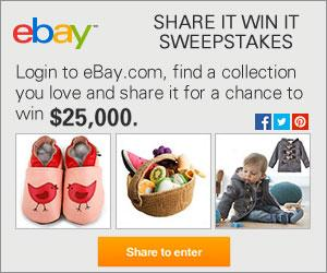 Win $25,000 in the eBay Share It Win It Sweepstakes