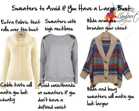 Sweaters to Avoid if You Have a Large Bust