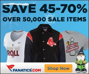 Save 45-70% on over 50,000 items at Fanatics.com!