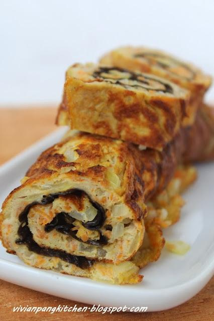 Korean Rolled Egg Omelette