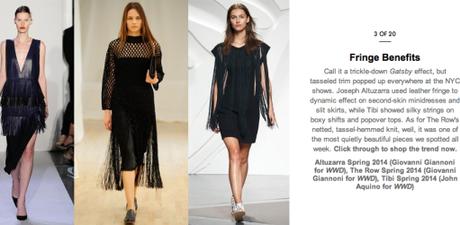 Spring Summer S/S 2014 trend fringe fashion trends for moms