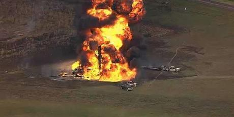 Nov 14 pipeline explosion in Milford, TX caused when a crew accidentally drilled into the pipe.