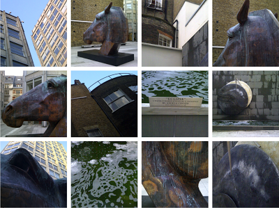 The Economist Plaza and Nic Fiddian Green's large horses
