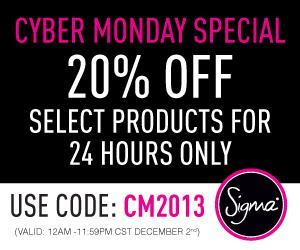 Sigma's Promotions For Black Friday & Cyber Monday Details! (20% off, free shipping..)