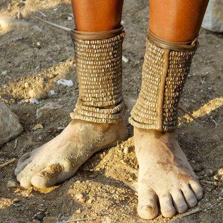 Ankle bracelets protect against venomous snakes and other animals in Namibia