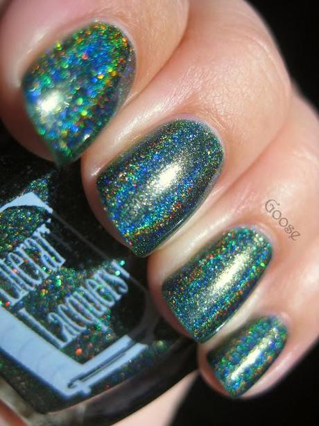 Literary Lacquers - A Thousand Christmas Trees (Custom Polish) Swatches and Review