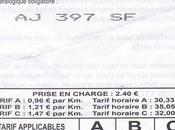 Paris Taxi Trouble? Receipt