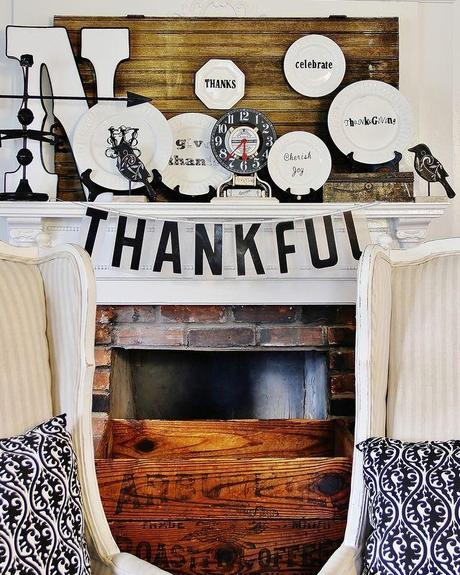Beautiful Black And White Thanksgiving Decorations Thistlewood Farm Home Decor Ideas