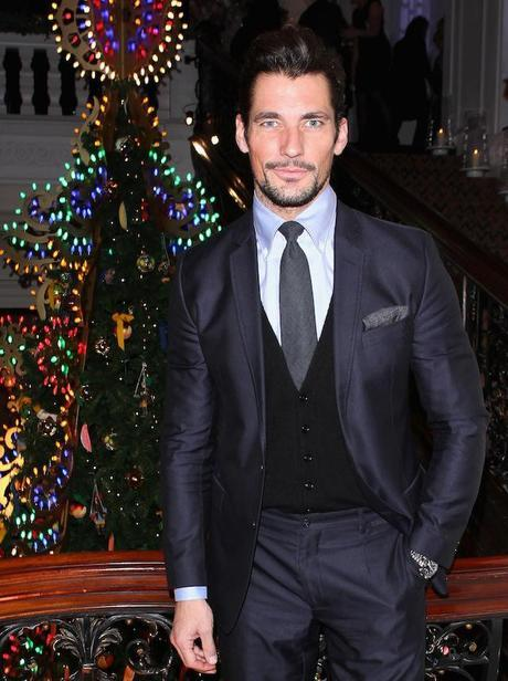 David Gandy attends Claridge's Christmas Tree By Dolce & Gabbana launch party at Claridge's Hotel on November 26, 2013 in London, England.  (Photo by David M. Benett/Getty Images for Claridge's