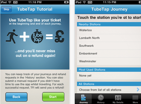 Tube was late? Claim your fare from TfL using TubeTap iPhone app