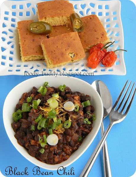 Vegetarian Black Bean Chili Recipe | Easy Bean Chili Recipe