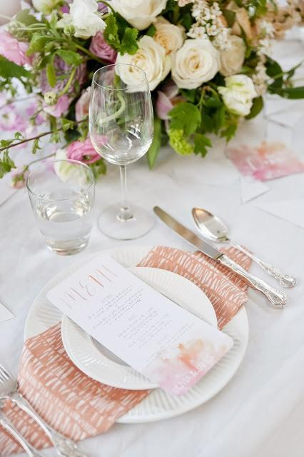 Watercolour Themed Wedding by Twig & Arrow, Anna Munro Photography, Couture Candy Buffet Company et al