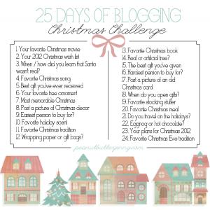 25 days of Christmas Blogging Challenge
