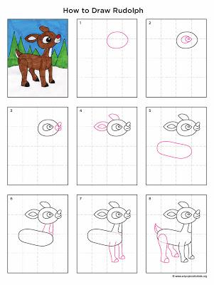 How To Draw Rudolph - Paperblog