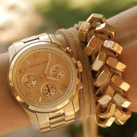 Chronograph Gold Watch by Michael Kors
