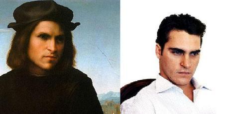 Joaquin Phoenix and Portrait of a Young Man