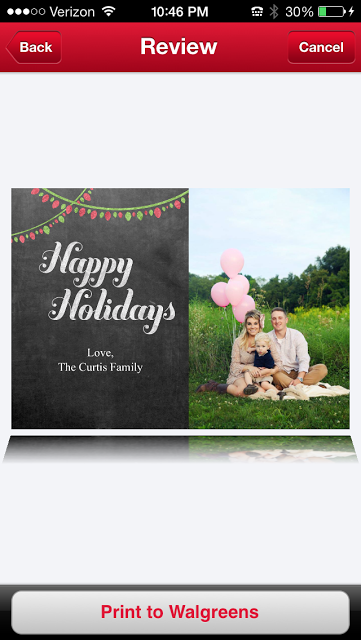 holiday photo cards with the walgreens mobile app paperblog