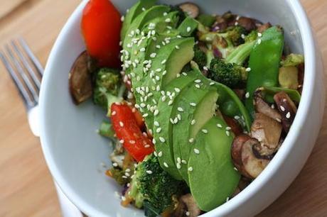 Easy Vegan Veggie Teriyaki Bowl