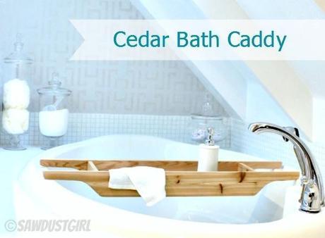 DIY Gift Ideas:  Cedar Bath Caddy