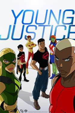 From left to right: Artemis, Robin, Kid Flash,...