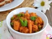 Baby Corn-Peas Masala Curry