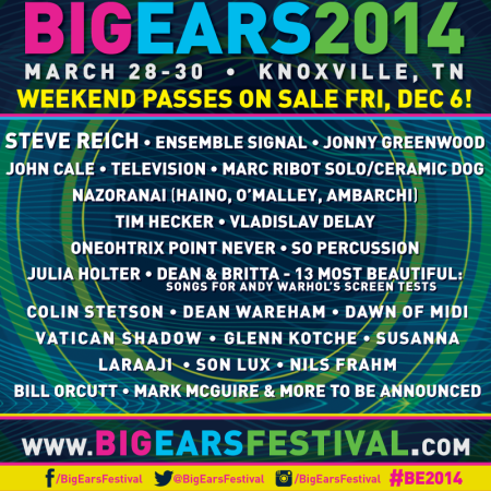 John Cale: performing @ the  Big Ears Festival  in Knoxville, TN