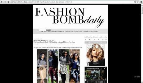 Press: Fashion Bomb Daily Feature
