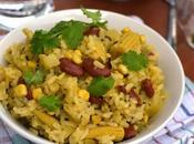 Corn Rajma (Kidney Beans) Pulao (Pilaf)