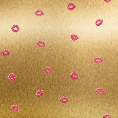 Smooches Wallpaper in Gold and Pink design by York Wallcoverings