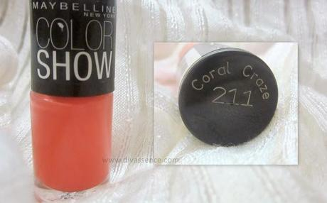 Maybelline Color Show Nail Paints: Coral Crush and Orange Fix: Review/NOTD