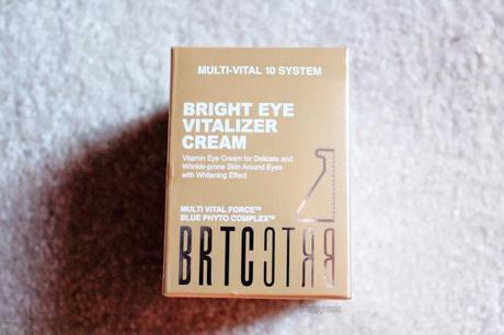 BRTC Bright Eye Vitalizer Cream Multi Vital 10 System Review