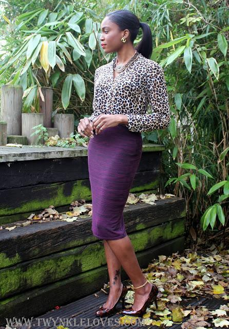 Today I'm Wearing: Leopard + Burgundy