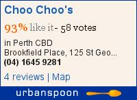 Choo Choo's on Urbanspoon