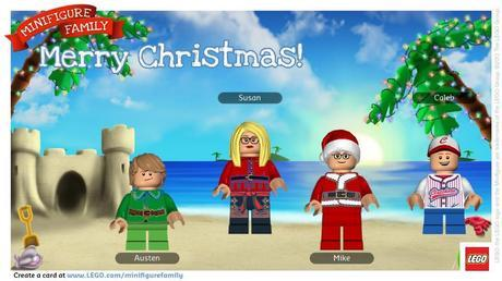 Create a Personalized LEGO Minifigure Holiday Card Featuring Your Family!
