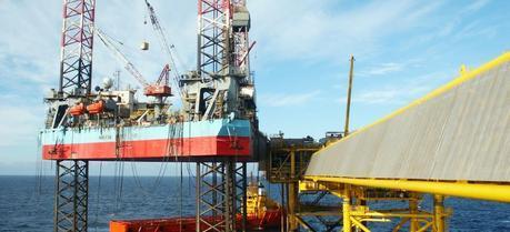 A rig somewhere off the coast of Denmark.