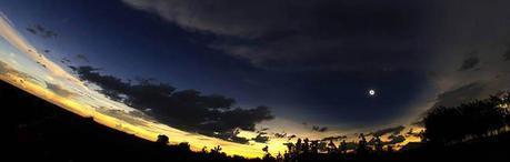 Uganda's total solar eclipse. Photo taken with fisheye lens by Lukasz