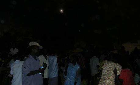 Diamond ring hybrid solar eclipse Uganda