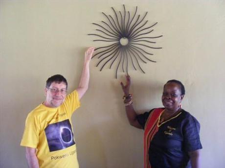 morning of the eclipse,Maria Mutagamba, Pakuba Lodge.