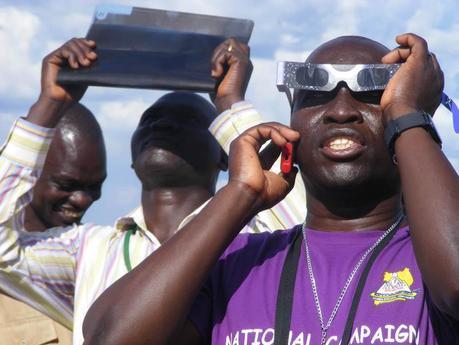 Solar Eclipse glasses Pokwero Uganda