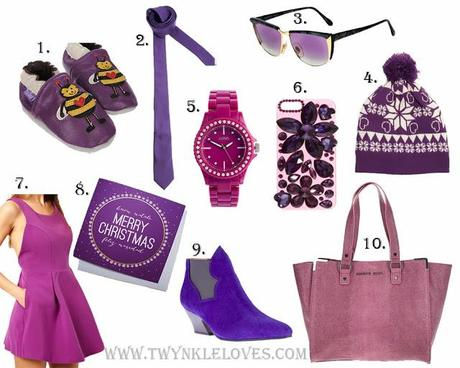 Pantone Colour Of The Year 2014: Radiant Orchid + Christmas Gift Guide