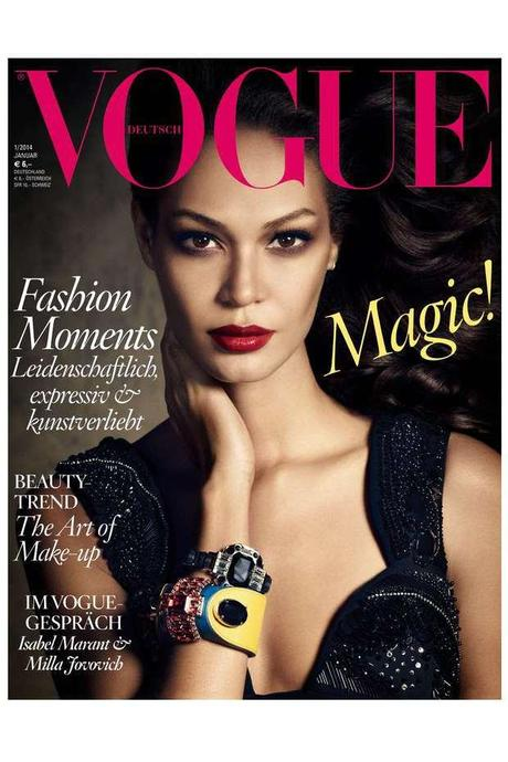 Joan Smalls by Luigi And Daniele + Iango for Vogue Germany January 2014